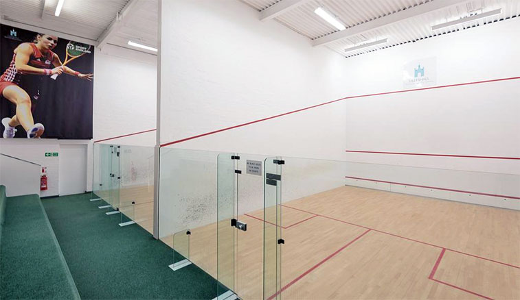 Lilleshall's glass back squash courts